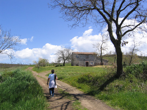 Walking to Bolsena