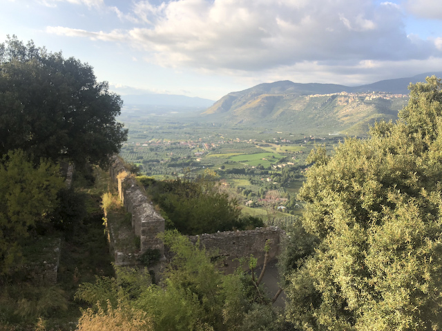 View from Sermoneta
